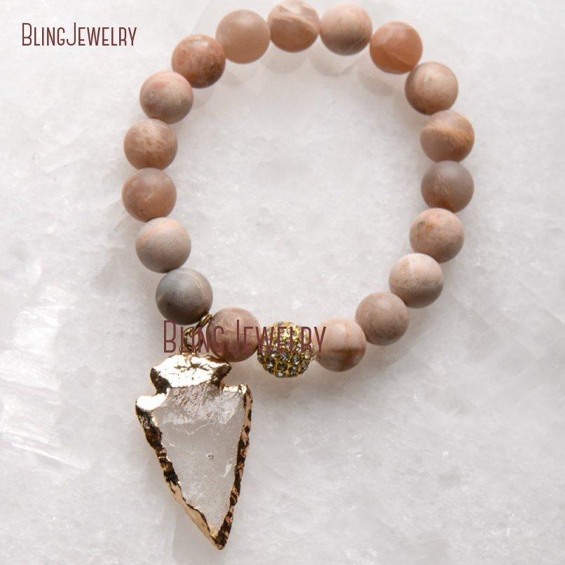 20181201-BM17426-Latest Arrowhead Clear Crystal Bracelet On Sale_24
