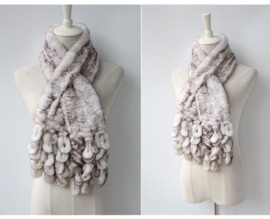 knitted rabbit fur scarf rabbit (12)
