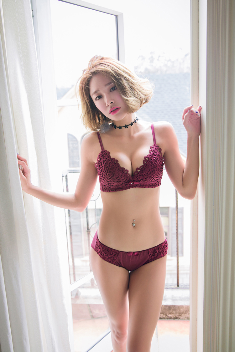 Jerrinut Sexy Lingerie Set Underwear Women Push Up Bra Set Seamless Embroidery Bra And Panty Brassiere Bra Brief Sets 2
