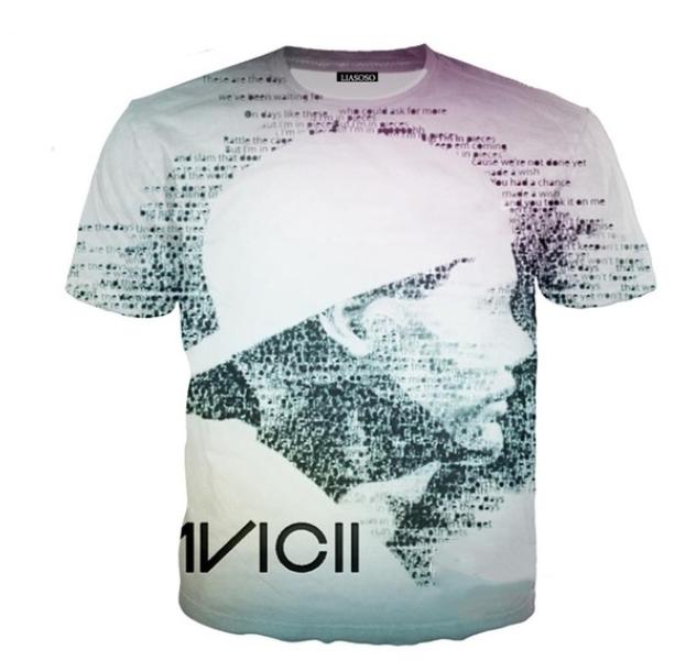 Men/'s Short Sleeve Rounded Neck T-shirt DJ Don Diablo White