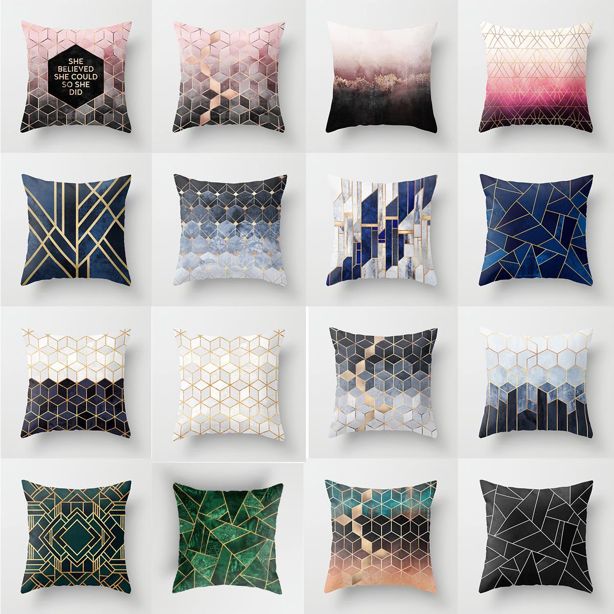 Cuscini Bianchi E Neri copertura decorativa del cuscino del poliestere della cassa del cuscino  della copertura geometrica di stile in bianco e nero per l'automobile  mma1811