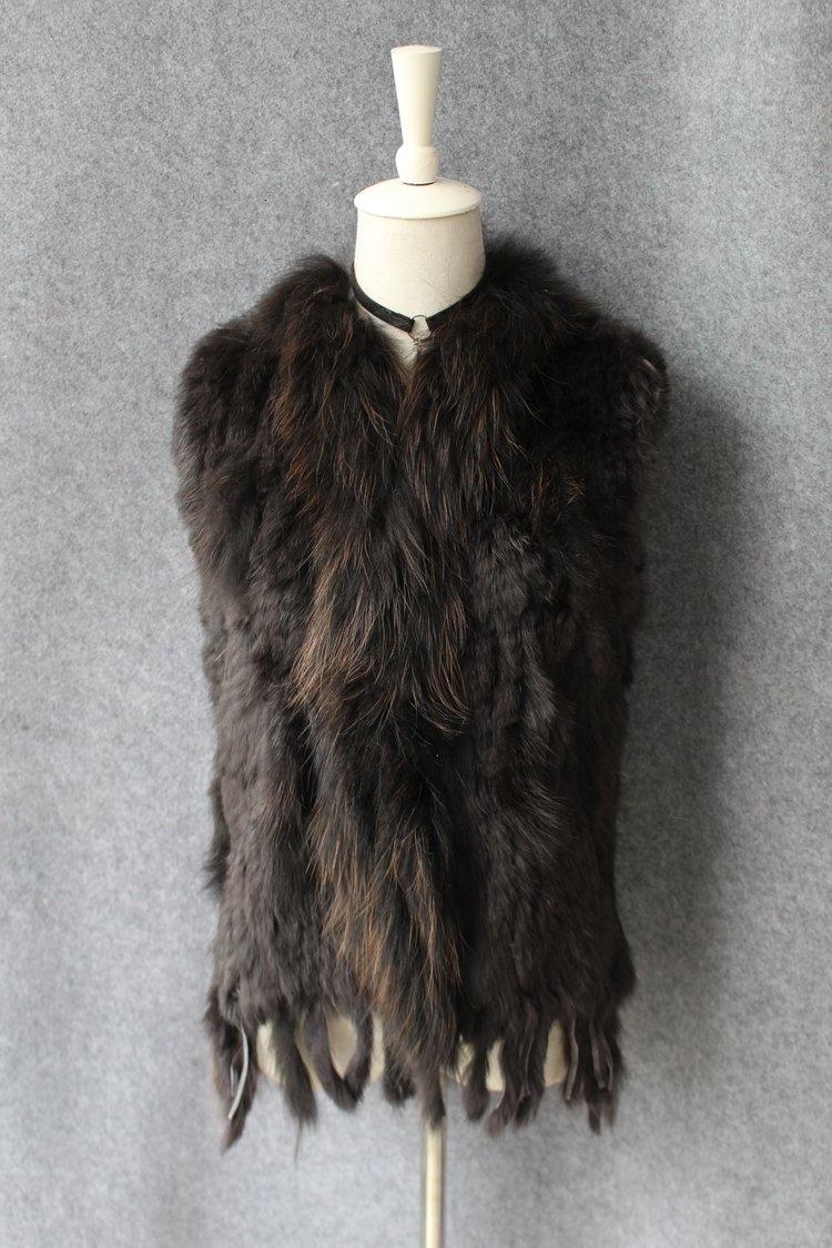 genuine real rabbit fur vest with raccoon fur collar (28)