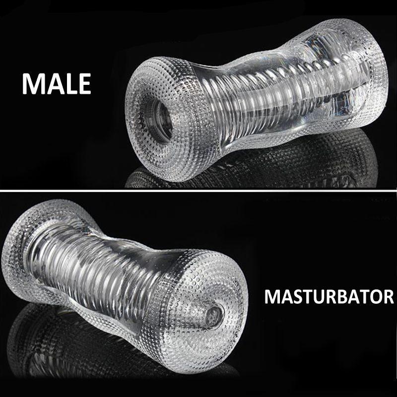 Meselo Transparente Masturbador Masculino Hombre Entrenador de Pene Adultos Juguetes Sexuales de Silicona Para Hombres Masturbaciones Productos Eróticos Nuevo C19010501