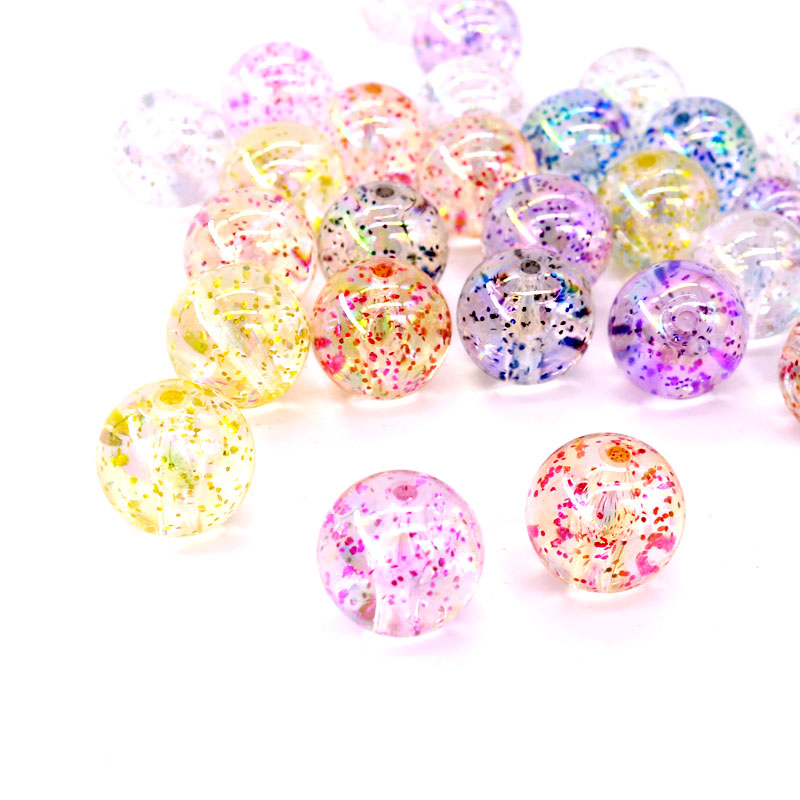 2000pcs Environmental Transparent Acrylic Beads Round Loose Beads Spacer 8mm