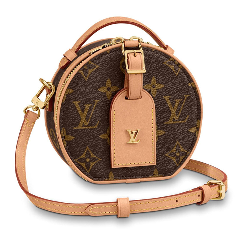 /  handbag MINI BOITE CHAPEAU mini round cake presbyopic shoulder bag M68276