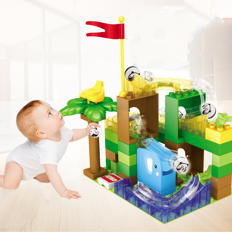 54PCS-Marble-Race-Run-Ball-Track-Building-Blocks-Funnel-Slide-Plastic-Assembled-Toys-for-Kids-Compatible