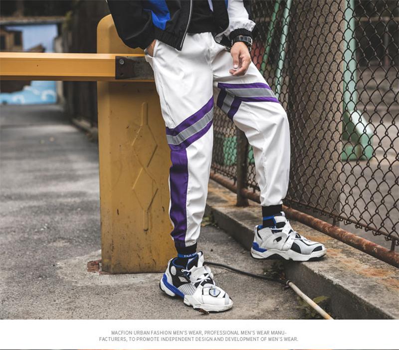 Loose Hip Hop Cargo Pants Men Camouflage Patchwork Harem Mens Trousers Streetwear (63)