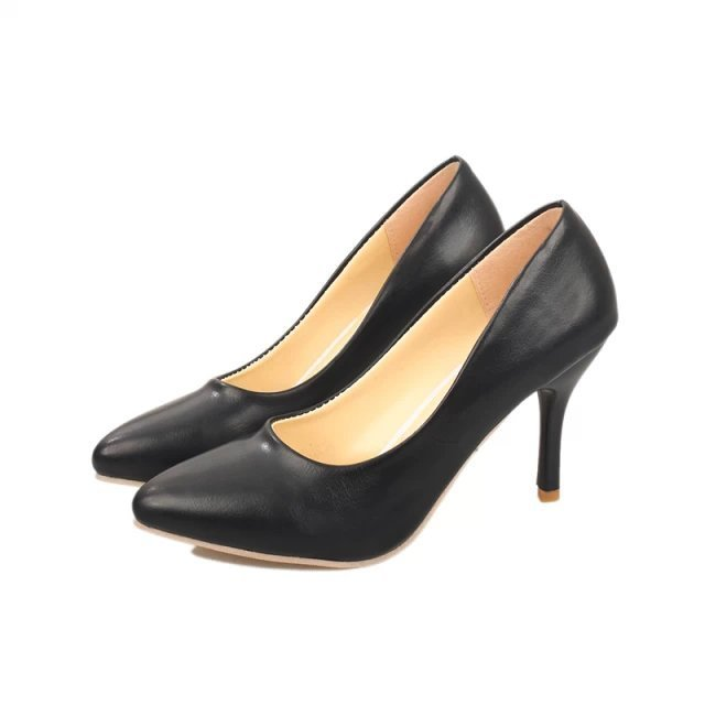 Plus size 9 10 11 Mulher Bombas De Salto Alto Branco Casamento Apontou Toe Bomba Primavera Outono Vestido zapatos mujer