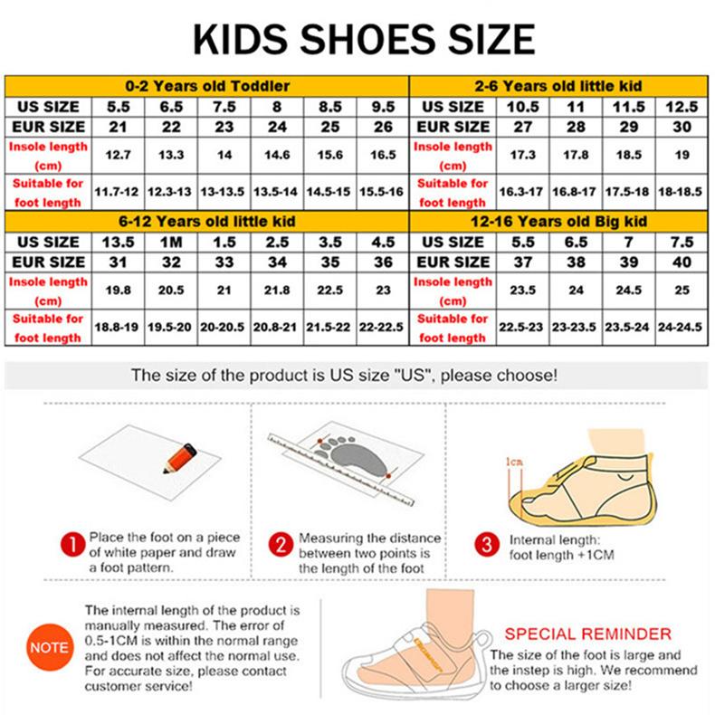 Light White School Shoes Kids Fashion