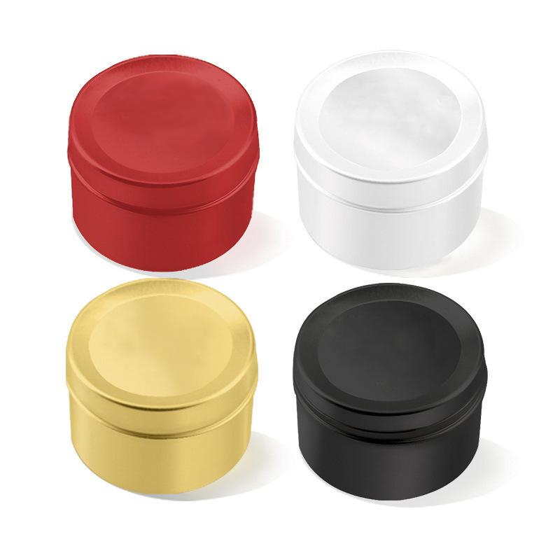 50 ML Mini Tin Thé Boîte de rangement ronde metal case Wedding Favor Organisateur Récipient