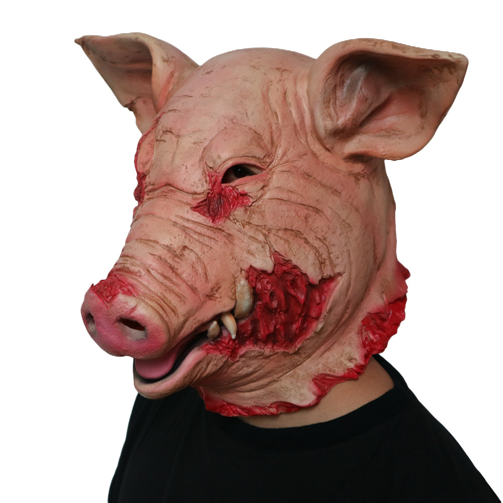 Adult Unisex Animal Fancy Dress Pig Costume Complete Porker//Swine Outfit Pink