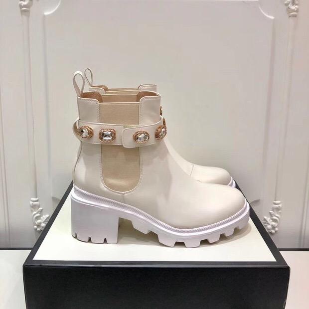 Hot Sale-Color Cowboy Ankle Boots Designers Women Booties Highet Quality 6cm Winter Booties