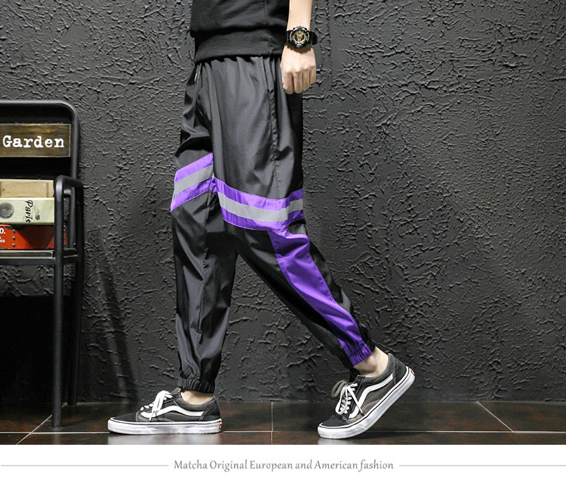 Loose Hip Hop Cargo Pants Men Camouflage Patchwork Harem Mens Trousers Streetwear (17)