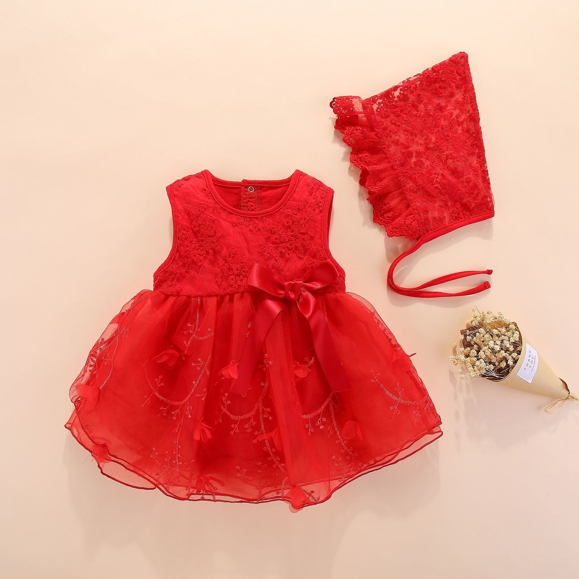 Newborn Dresses Summer With Flower 0 3 6 Month Baby Girl Dress For Party And Wedding Princess Style Clothes Q190518