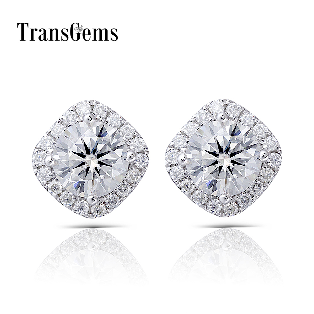 halo moissanite stud earrings (1