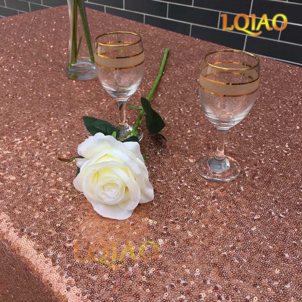 Rose Gold Sequin Tablecloth-011
