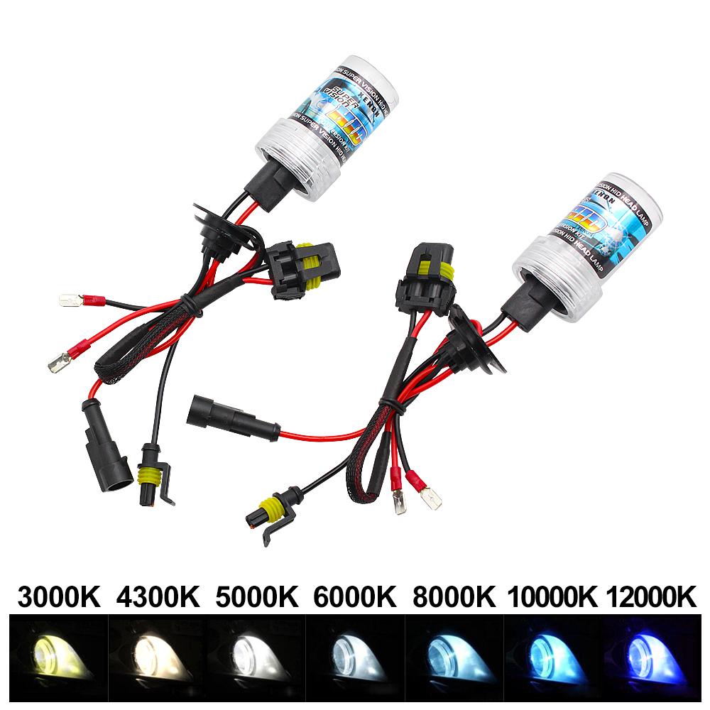 R Bombilla de lampara de xenon HID TOOGOO 2 X 35W D2S // D2C Bombilla de lampara de xenon HID de linterna blanca de 8000K