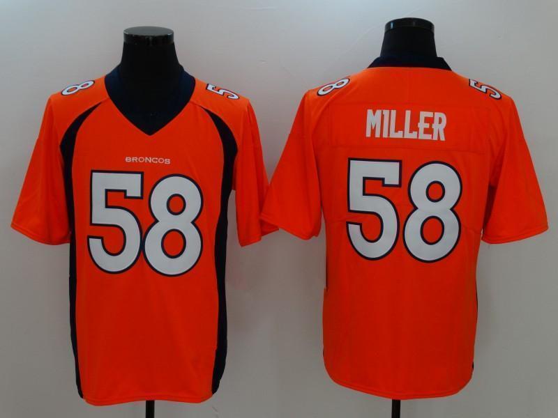 1c0769d1425 2019 Denver Football Men Broncos 58 Von Miller Jersey 30 Phillip ...