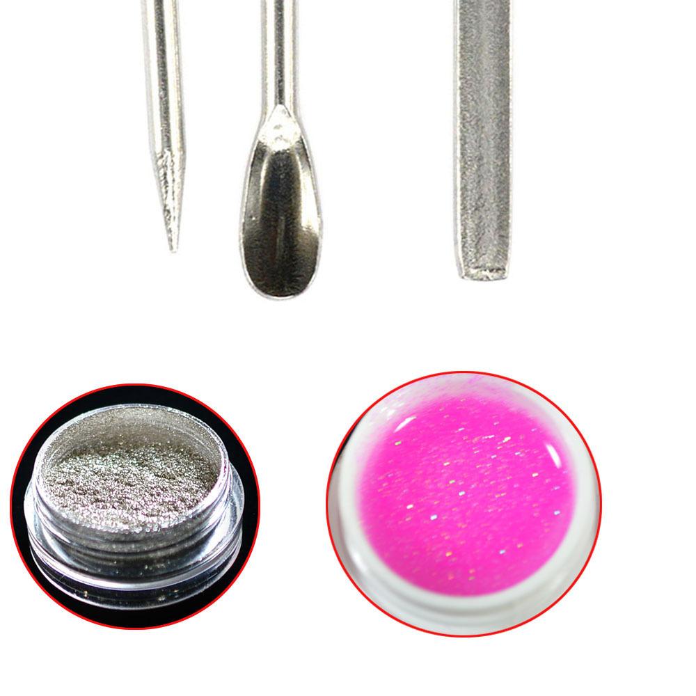 2019 Art Stirring Tools Stainless Steel Acrylic Powder Liquid Uv Gel Spoon Pin Dotting Pen Nail Manicure Ch320