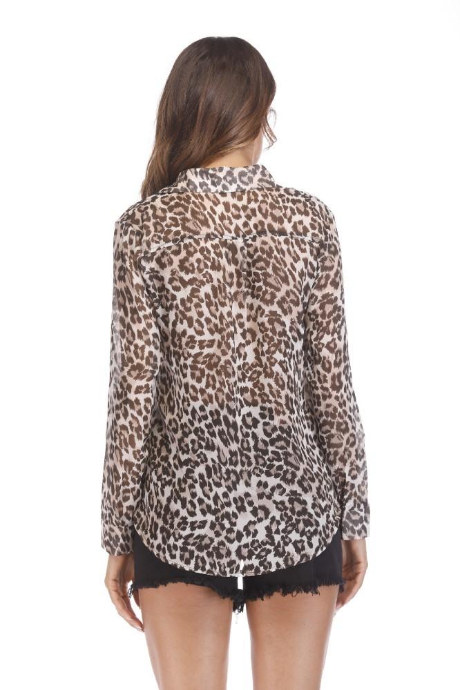 Hot sale 2014 Hitz long sleeved T-shirt small Sexy Leopard shoulder jacket shirt female TX018-03 C