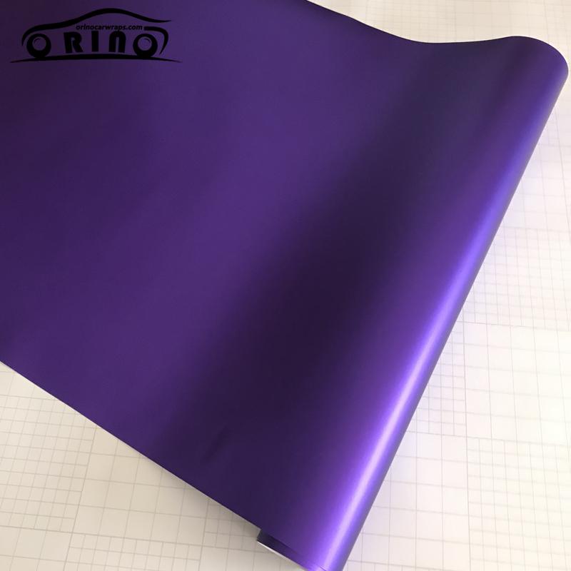 Purple Matte Metallic Chrome Vinyl Film Wrap-2