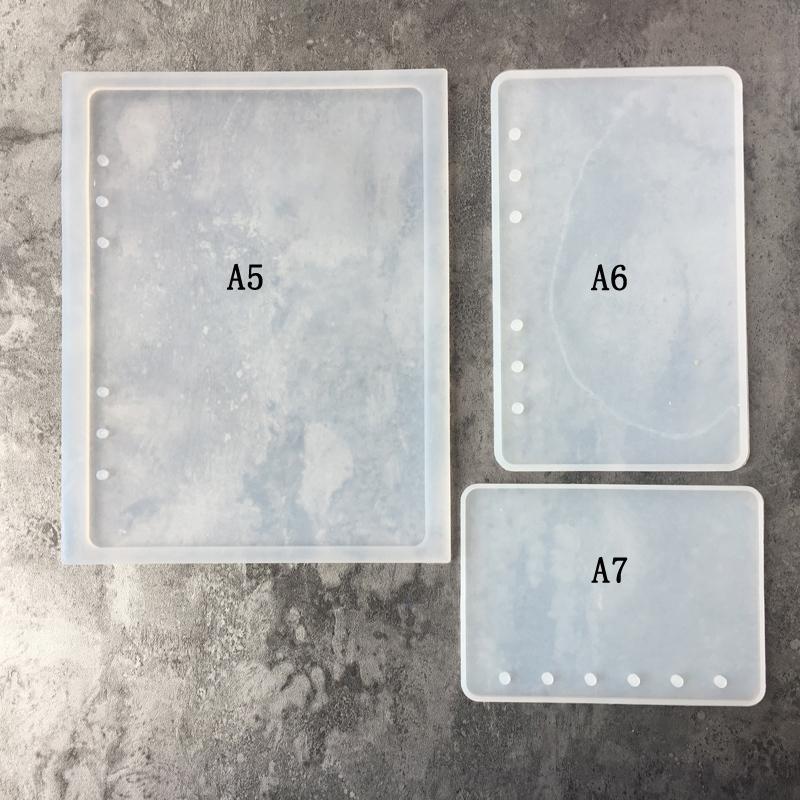 Форма ноутбука DIY Смола Кристалл Эпоксидная смола Прозрачная Книга Силиконовые Формы A7 A6 A5 Mix Оптовая