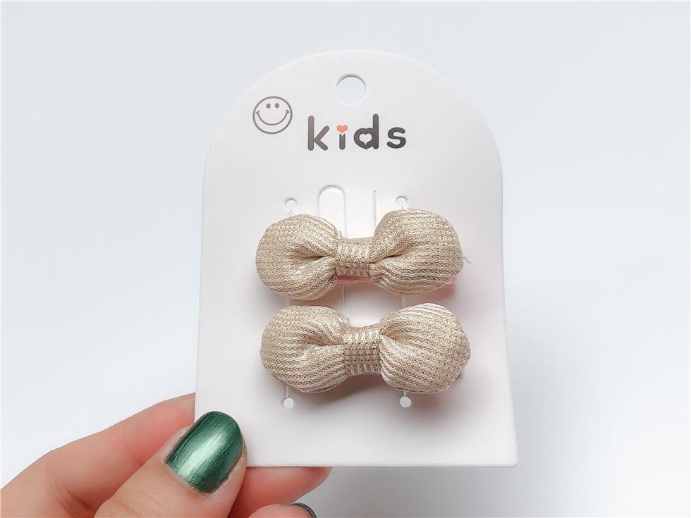 Boutique ins Fashion Cute Glitter Bow Hairpins Solid Mini Bowknot Hair Clips Princesss Headwear Fairy Hair Accessories