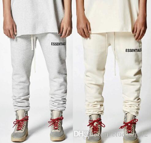 18SS Essentials Sweatpants Hip Hop Streetwear for Men Drawstring Joggers Casual Sports Pants