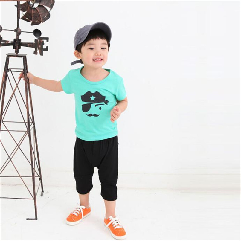 Summer Children Boy Kid T-Shirt Lovely Face Short Sleeve Tops O Neck T-Shirt Tees NDA84L16 (1)