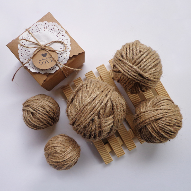Natural Jute Twine Arts Crafts,Wedding Christmas Gift Tag Package Decor Hemp Yarn String for Gardening Applications Decoration,300 Feet. 1 x Jute Twine