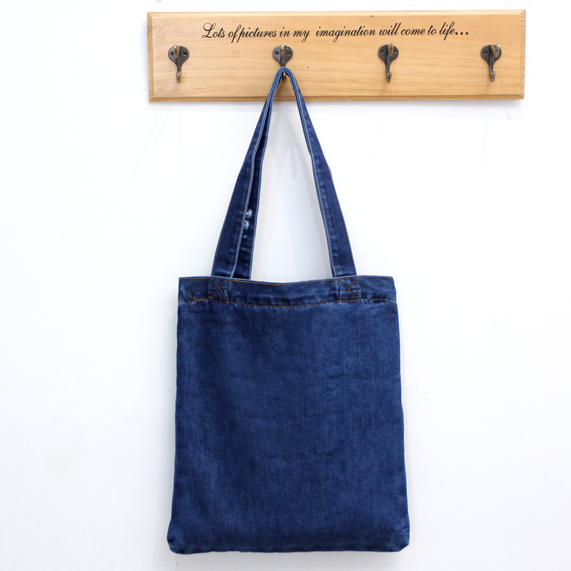 2019 Fashion 2018 Fashion Women Canvas Denim Tote Large Capacity Handbag Shopping Book Student Organizer Single Shoulder Bag Bolsa Feminina
