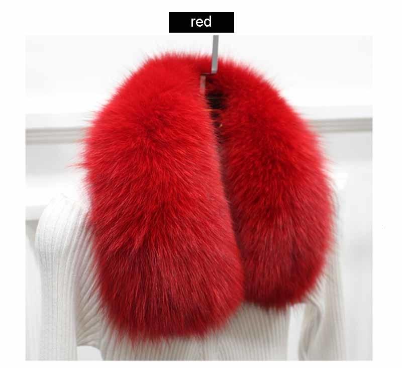 fox fur collar red 1 1
