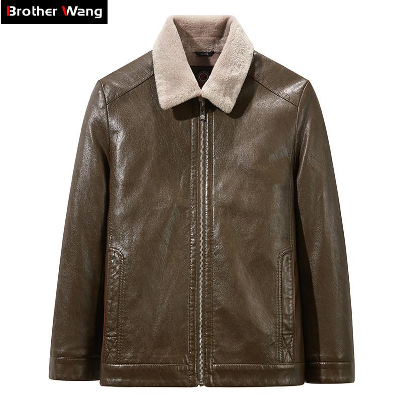 New Mens Genuine Lambskin Leather Slim Fit Biker Motorcycle Jacket for Men P080