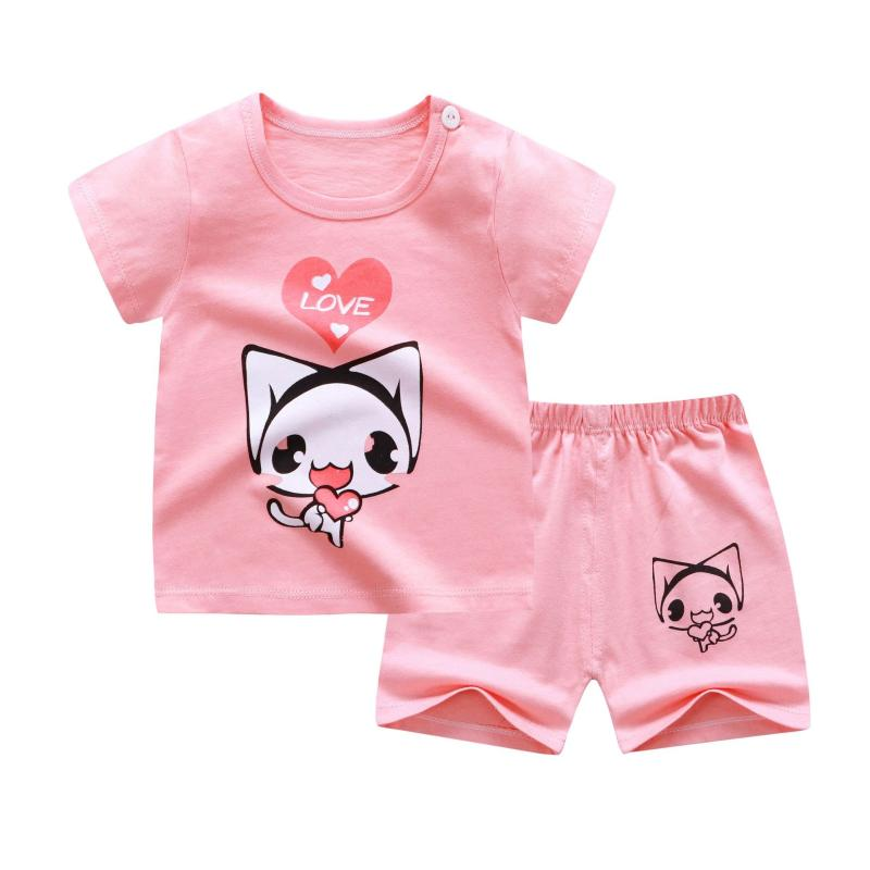 6-24 Months 2Pcs Infant Toddler Baby Girls Rabbit Print Tops Coat+Pants Clothes Set Baby Outfits