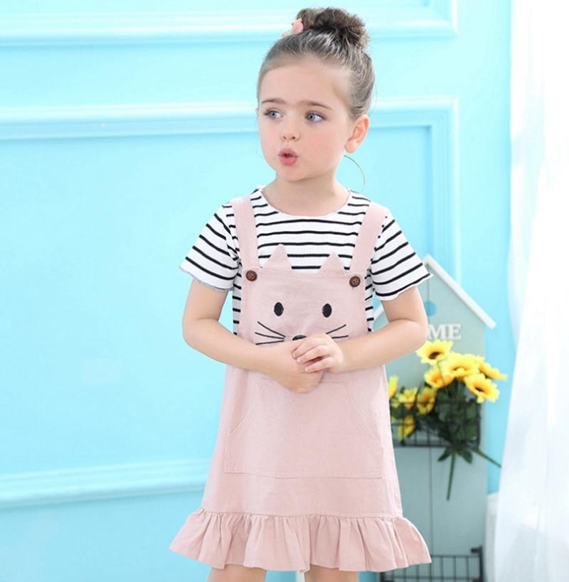 UK Newborn Kids Baby Girls 3D Flower Tops Lace Shirt Denim Pants Outfit htrghh
