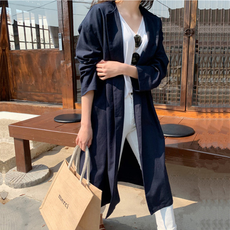 Loose Long Trendy Simple Korean Style Women Cardigan Windbreaker High Quality Women's Winter Coat Cheap New Elegant Woman Coats SH190829