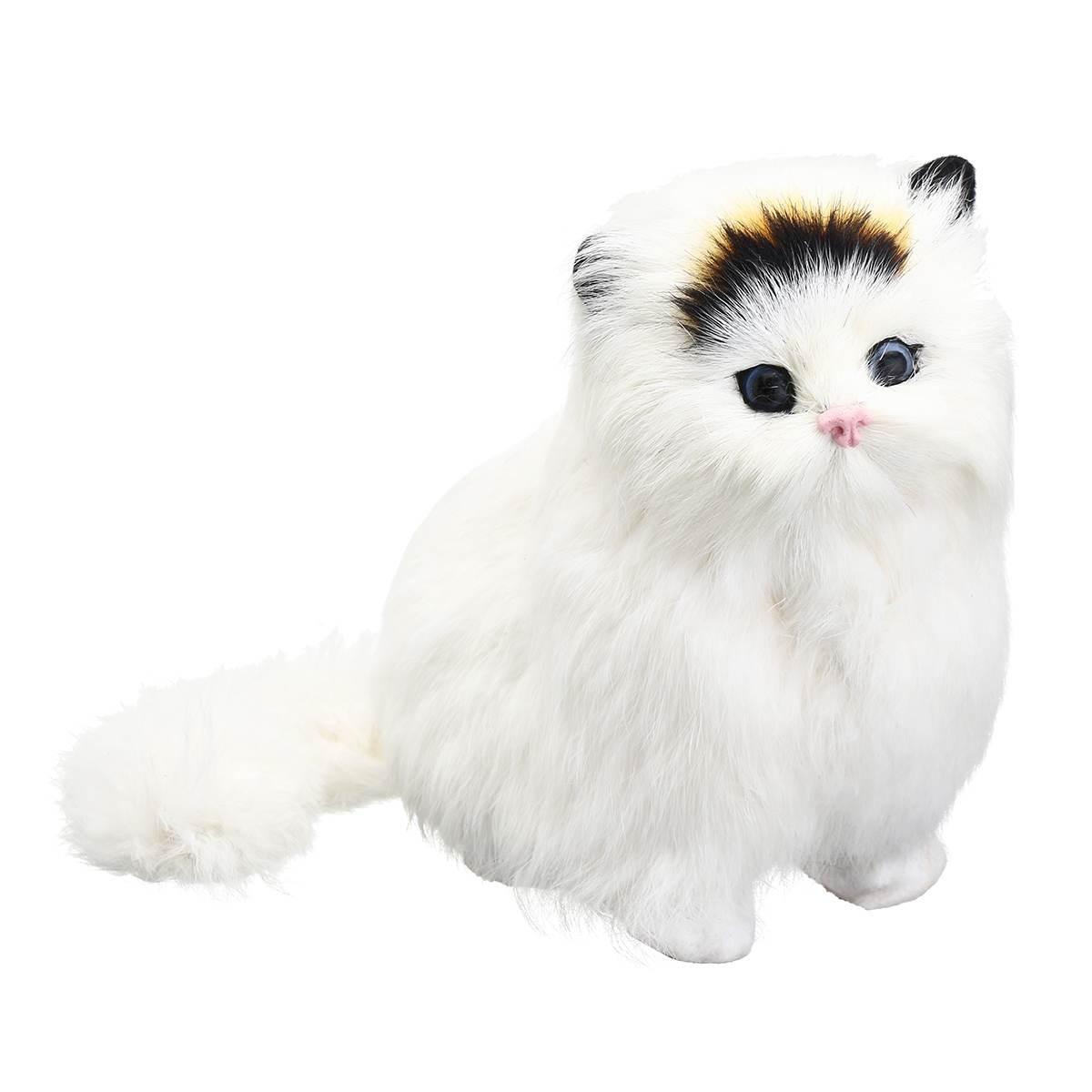 Прекрасный новый электрический моделирование мягкие плюшевые кошки игрушки мягкие звучащие милые плюшевые кошки куклы игрушки для детей
