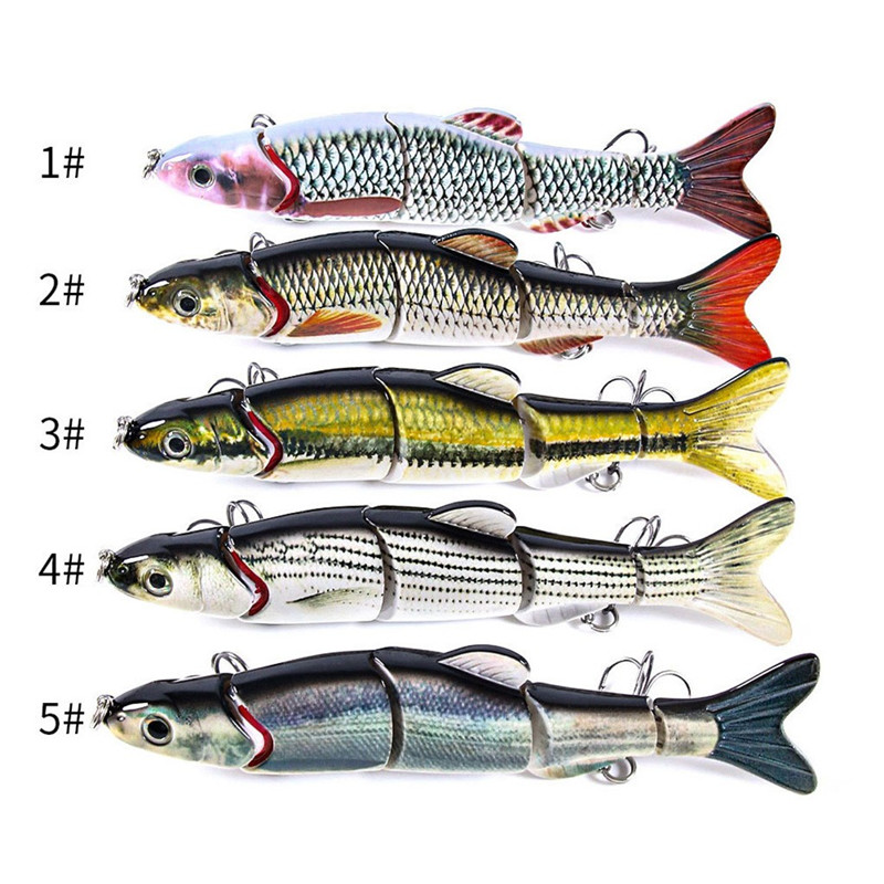 1PC Fishing Lures 15.5CM Plastic Hard Bass Baits 5 Colors Lures fake fishing bait #2G30 (6)