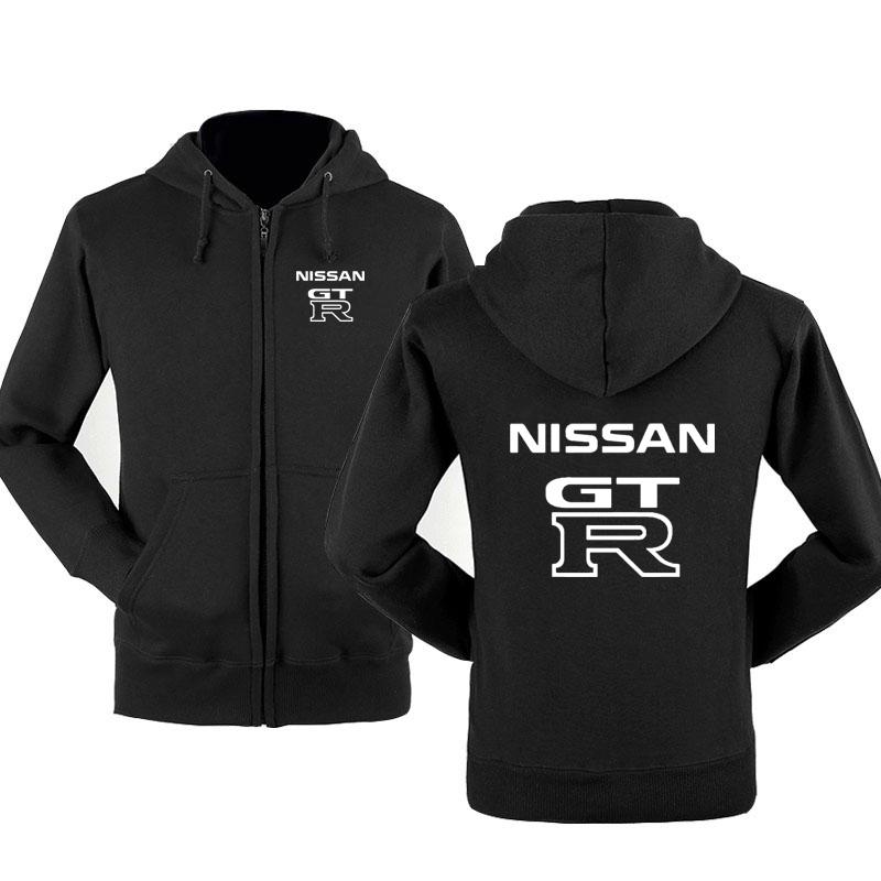 NISSAN Skyline GTR Felpa con cappuccio ispirata personalizzato GODZILLA R34 DRIFT MUSCLE BLACK