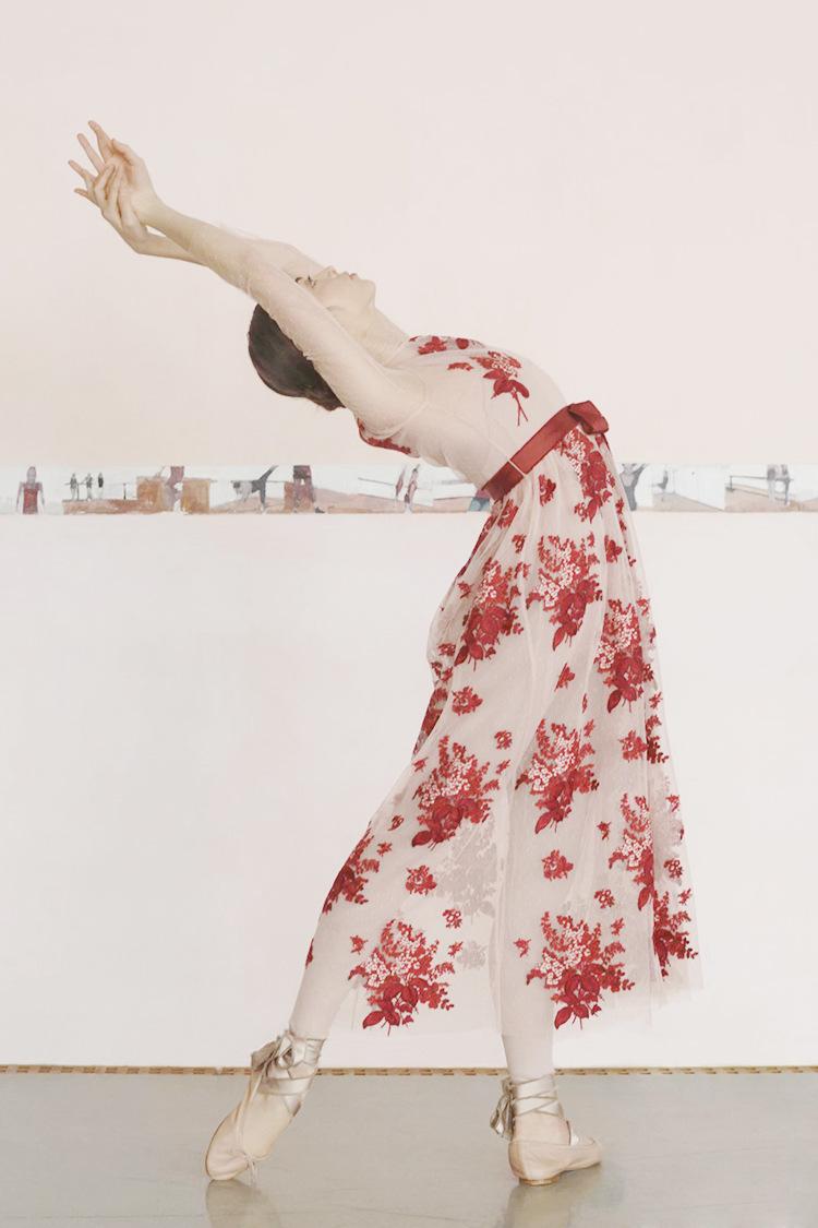 Femmes Filles Rose Maille Longue Robe D'Été 2019 Nouvelle Piste Marque 3/4 Manches Noeud Ceinture Rouge Floral Broderie Robes Cocochoose