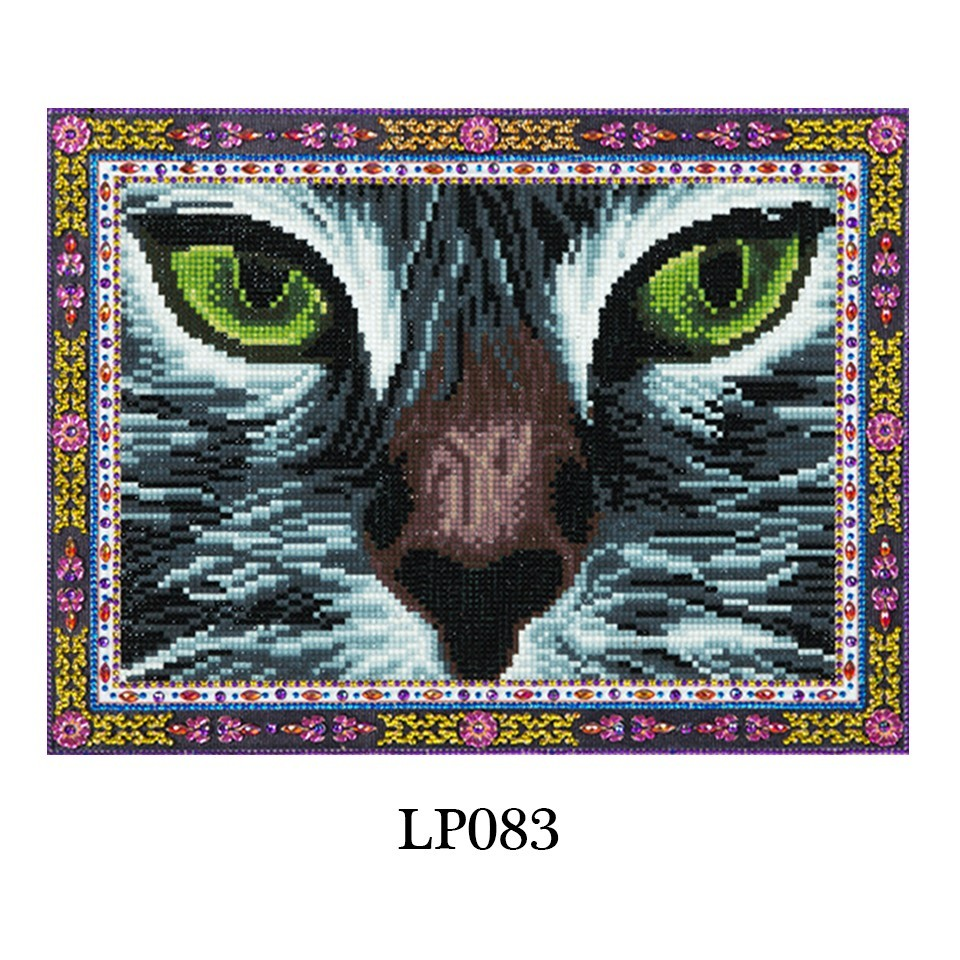 wholesale Diamond Painting Cat Eyes Picture of Rhinestones Wall Art Diamond Embroidery Animal With Special Shape Lace Home Decor DIY