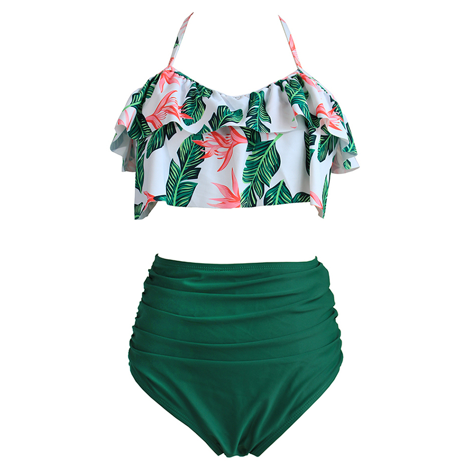 High Waist Bikini Sexy 3xl Female Swimsuit 2019 Plus Size Swimwear Women Brazilian Push Up Bikinis Set Swimming For Bathing Suit Y19042203