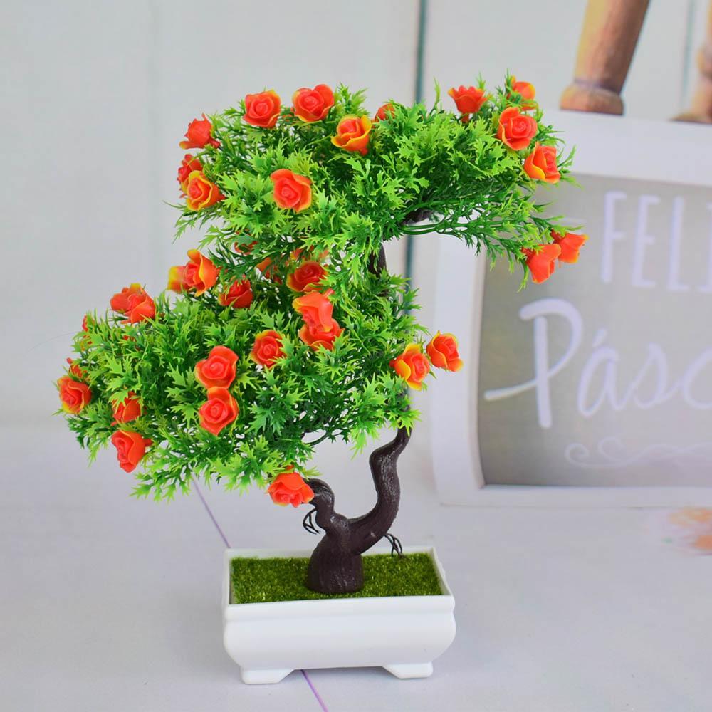 Etagere Pour Plantes Interieures bonsai mini artificiel en plastique arbres art pots plateau faux petites  fleurs rose pour la maison d'intérieur de noël decoracion gifs usine faux