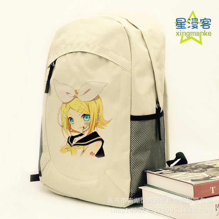 2019 New Hatsune Miku Backpack Anime Vocaloid Canvas Laptop Student School Bag Fast Shipping 22 Styles