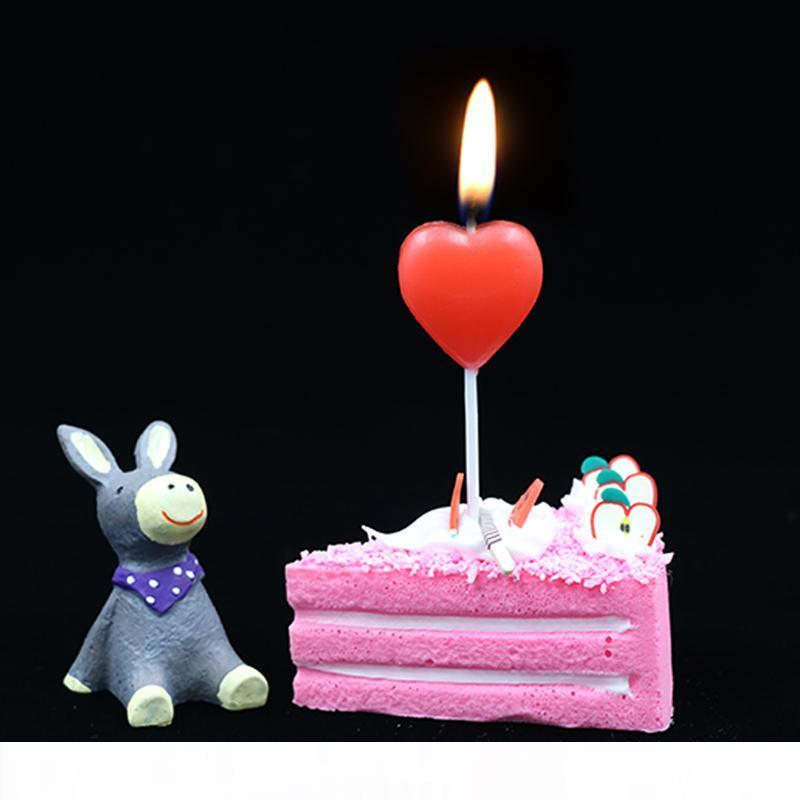 Cartoon Eiffel Tower Cake Candle Birthday Wedding Party Decoration Smokeless