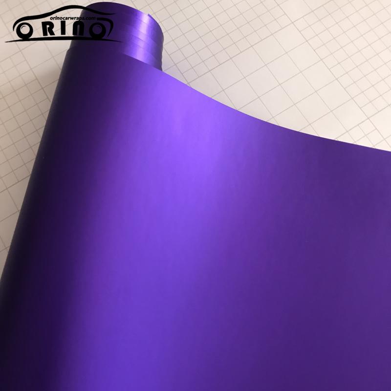 Purple Matte Metallic Chrome Vinyl Film Wrap-3