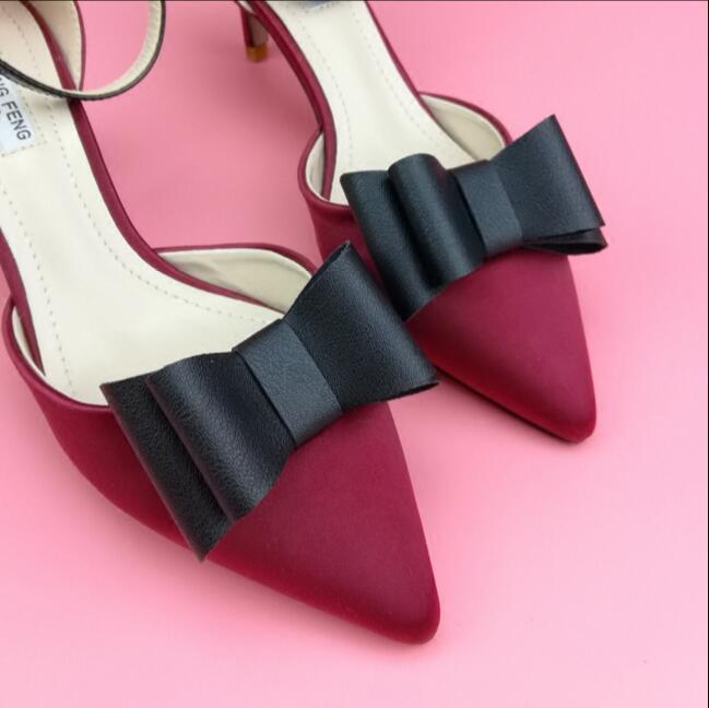 Paire de gros nœud Shoe Clips Boucle Amovible Talon Haut Accessoires