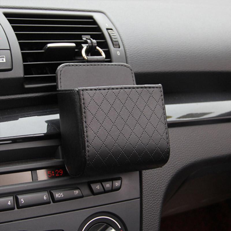 سيارة التخزين دلو المحمولة المعلقة جلدية سيارة حقيبة الهاتف عملة مفتاح منظم المال حامل تستيفها الترتيب والتنظيم