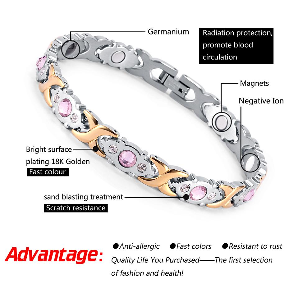 Stainless Steel Bracelet Magnetic osb-1541sg (2)