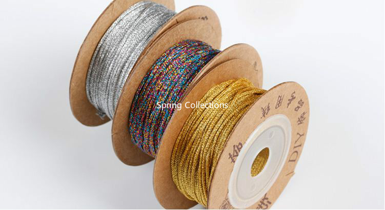 100/meters corda di cotone bianco beige naturale intrecciato corda macram/è Craft string DIY Handmade casa decorativo fornitura Beige 1mm x 100meters